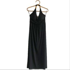 Claudi Richard NWT Black Beaded Halter Maxi Dress